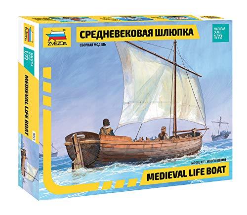 Zvezda 500789033 - 1:72 Medieval Life Boat