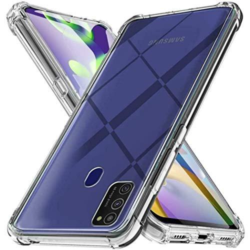 iMoshion kompatibel mit Samsung Galaxy A21s Hülle – Shockproof Hülle Handyhülle – Silikon Schutzhülle in Durchsichtig/Transparent [Verstärkte Ecken, Stoßfest, Dünn]