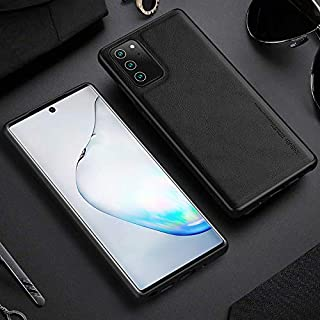 X-Level customized leather case compatible with Samsung note 20 5G back phone cover (Samsung Note 20, Black)