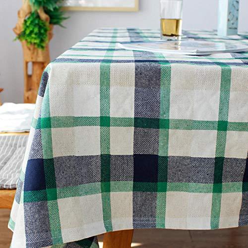 Branfan Nordic grote plaid katoen en linnen tafelkleed restaurant woonkamer rechthoekige salontafel bureau bank doek eettafel doek kleur groen 130 * 180cm