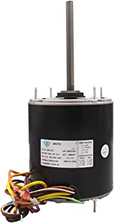 GM3735 6.10-Inch Direct Replacement Motor, 3/4 HP, 208-230 Volts, 1075 RPM, 4.7 Amps, 60Hz, Condenser Fan Motor with Single Phase, Enclosure Construction, Extended Thru Bolts, Ball Bearings