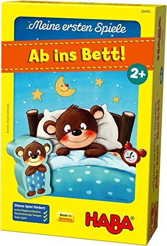 HABA 304761 - Meine ersten Spiele – Ab ins Bett!, Memo- und Zuordnungsspiel für 1-3 Spieler ab 2 Jahren, mit kindgerechtem Spielmaterial aus Holz und Pappe
