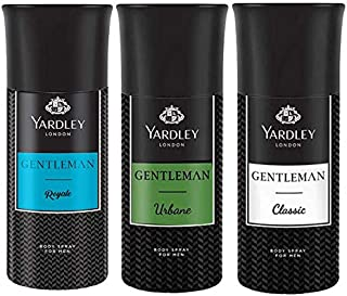 Yardley London Deo Tripack For Men- Gentleman Classic + Gentleman Urbane + Gentleman Royale 150ml (Pack of 3)