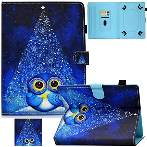 Universal 7.5-8.5 inch Tablet Case, Artyond Multi-Angle Stand Case with Cards Slots Magnetic Buckle Cover for iPad Mini,Kindle,Android,Galaxy Tab & Other 7.5-8.5 inch Tablet (Starry Owl)