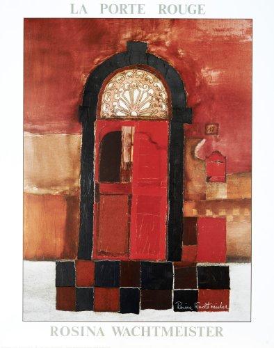 Rosina Wachtmeister - von der Künstlerin handsigniert - Hochwertiger Kunstdruck - LA PORTE ROUGE - 56x71 cm - Mixed Media mit Metall-Folien Veredelung-