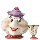 """Disney, Figura de Señora Pott y Chip de """"La Bella y La Bestia"""", para coleccionar, Enesco"""