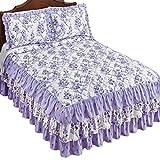 Floral Blossom Ruffled Bedspread