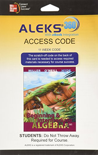ALEKS 360 Access Card (11 weeks) for Beginning and Intermediate Algebra
