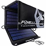 Foxelli Dual USB Solar Charger 21W - Foldable Solar Panel Phone Charger for iPhone & Android Smartphones, iPads, Android Tablets, Power Banks & More, Portable Solar Power for Camping & Outdoors
