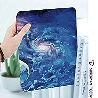軽量版IPad ケース iPad2 ケース iPad3 ケース iPad4 ケース スタンド機能 レザー(PU) オートスリープ 傷つけ防止 2つ折タイプ iPad2/3/4世代専用スマートカバーエキソ太陽惑星絵画スタイル活気に満ちた宇宙素晴らしい空間