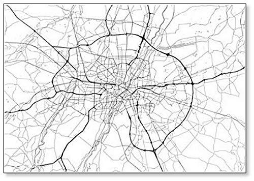 Imán para nevera con diseño de mapa de la ciudad de Múnich, Alemania