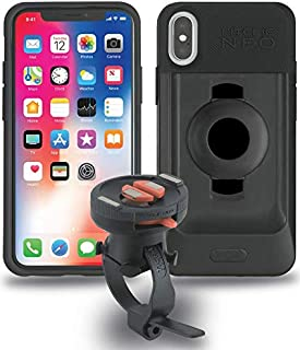 Tigra Sport FitClic Neo iPhone X/XS Self-Locking Magnetic Bike Mounting System with Phone Case and Handlebar or Stem Strap Mount - Note This case Will not fit iPhone Xs Max, Please Order Specific kit