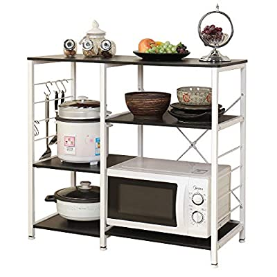 sogesfurniture Kitchen Baker's Rack Utility Microwave Oven Stand Storage Cart Workstation Shelf,BHUS-171 by sogesfurniture