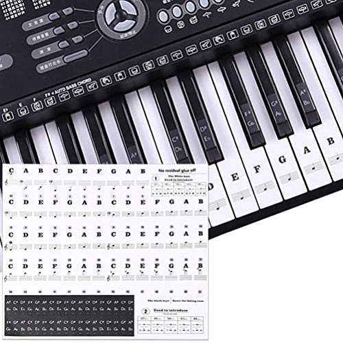 nuoshen Keyboard Stickers, Piano Stickers Removable Electronic Keyboards...