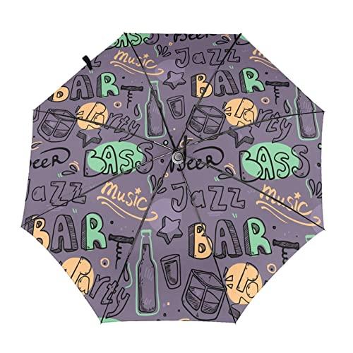 ジャズバー 自動開閉式折りたたみ傘 ワンタッチ 折りたたみ傘 耐強風撥水 大きいサイズ 雨傘 日傘 持ち運びが簡単 おしゃれ 個性 晴雨兼用