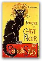 黒猫キャンバスアートポスタープリントウォールアート写真家の装飾寝室の装飾キャンバスにプリント50x70cmフレームレス