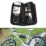 AmaZeus Bicycle Repair Tools Bike Tire Kit Bicycle Pump Puncture Repair Tool Bag