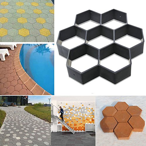 Molde para hacer caminos Tookie, reutilizable, camino de entrada, ladrillos de pavimento de patio, hormigón, losas de cemento, camino de jardín.