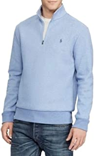 Double-Knit Half-Zip Mock Cotton Blend Pullover
