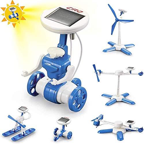 CIRO Experimente für Kinder ab 6, Stem Lernspielzeug Solar Roboter 6-IN-1 Bausatz für Jungen und Mädchen