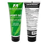 MuscleShok Muscle Therapy Gel with Arnica - Rub On Pain Relief Cream Gel - Muscle and Joint Pain...