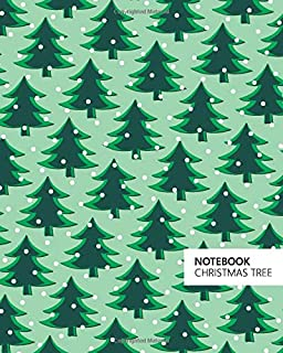 Christmas Tree Notebook: (Light Green) Fun notebook 192 ruled/lined pages (8x10 inches / 20.3x25.4 cm / Large Jotter)