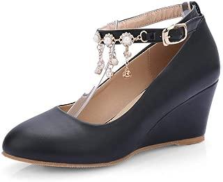 BalaMasa Womens APL12424 Pu Platform Heels