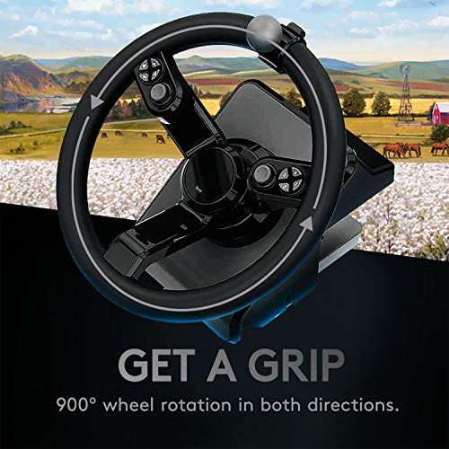Logitech G Farm Simulator Heavy Equipment Bundle (2nd Generation), Steering Wheel Controller for Farm Simulation 19 (or Older), Wheel, Pedals, Vehicule Side Panel Control Deck for PC/Mac PC Accessories PC Consoles, Games & Accessories