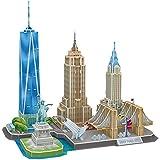 CubicFun Puzzle 3D New York CityLine Architettura Kit di Modellismo Souvenir per Bambini e Adulti