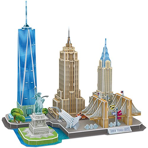 3D Puzzle Stadtansicht New York Cubic Fun
