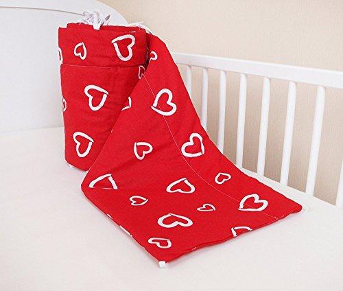 Paracolpi lettino nido protezione della testa paracolpi 420x 30cm, 360x 30cm, 180x 30cm letto paraspigoli paracolpi Baby letto caratteristiche Valentine