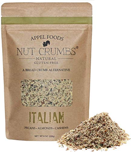 Appel Foods - Nut Crumbs - Bread Crumb Alternative - Gluten Free - Sugar Free - Low Carb - Low Sodium - Raw, Premium Nuts (Italian)
