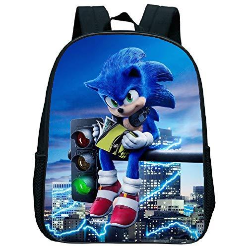 XINKANG Sonic The Hedgehog Cute Kids Sonic Kindergarten Backpack Printed Children School Bags Cool Pattern Child Bookbags Daily Rucksack Start School Gift