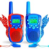 Waka Waka Walkie Talkies for Kids Outdoor Games – 2 Walkie Talkie Kids Toys & Matching Bandanas, Whistles – Two Way Radios with 1.86 Mi. (3 Km.) Range, 22 Channels, 38 Privacy Codes, Boys Ages 3+