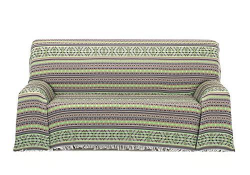 Cardenal Textil Azteca Foulard Multiusos, Verde, 230x290 cm