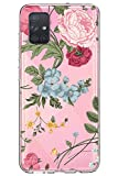 Oihxse Floral Design Compatible pour Coque Samsung Galaxy A320/A3 2017, Ultra Slim Transparent Soft...