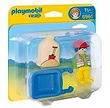 Playmobil 6961 1.2.3 Worker With Wheelbarrow
