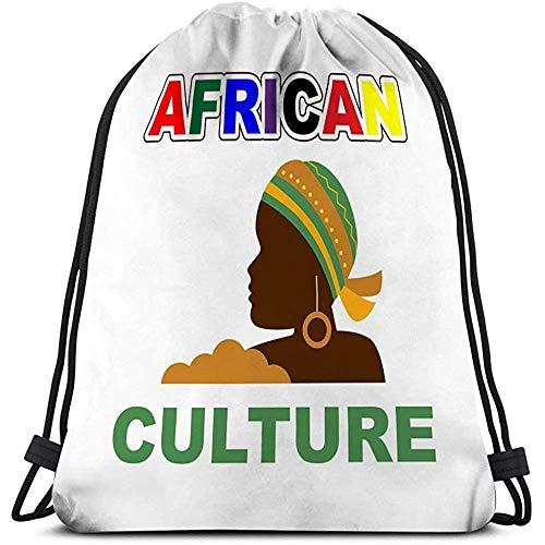 Drawstring-Tasche Afrikanische Kultur Bunte Frauen-Typografie-Slogans Social Media-Beitrags-Fahnen afrikanisch