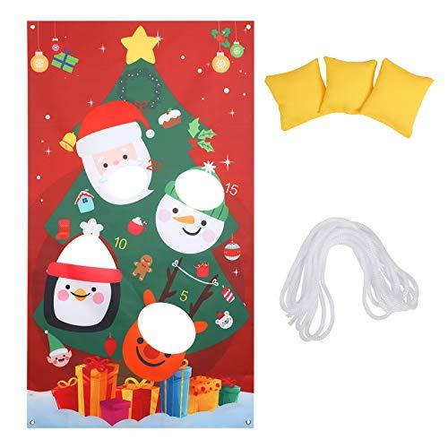 ZERHOK Weihnachten werfen Spiele Wurfspiel Partyspiele Draußen Garten Spielzeug Erwachsen Kinder Weihnachtsbaum Hängende Deko mit 3 Sitzsäcken