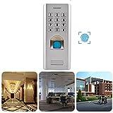 Fingerabdruck Zutrittskontrollsystem, Elektronisch Türöffner Access Control mit Keypad, IP66 Wasserdicht, Wiegand 26 Digit Output, Unterstützt 1000 Fingerabdrücke + 2000 PIN, für Innen Außen