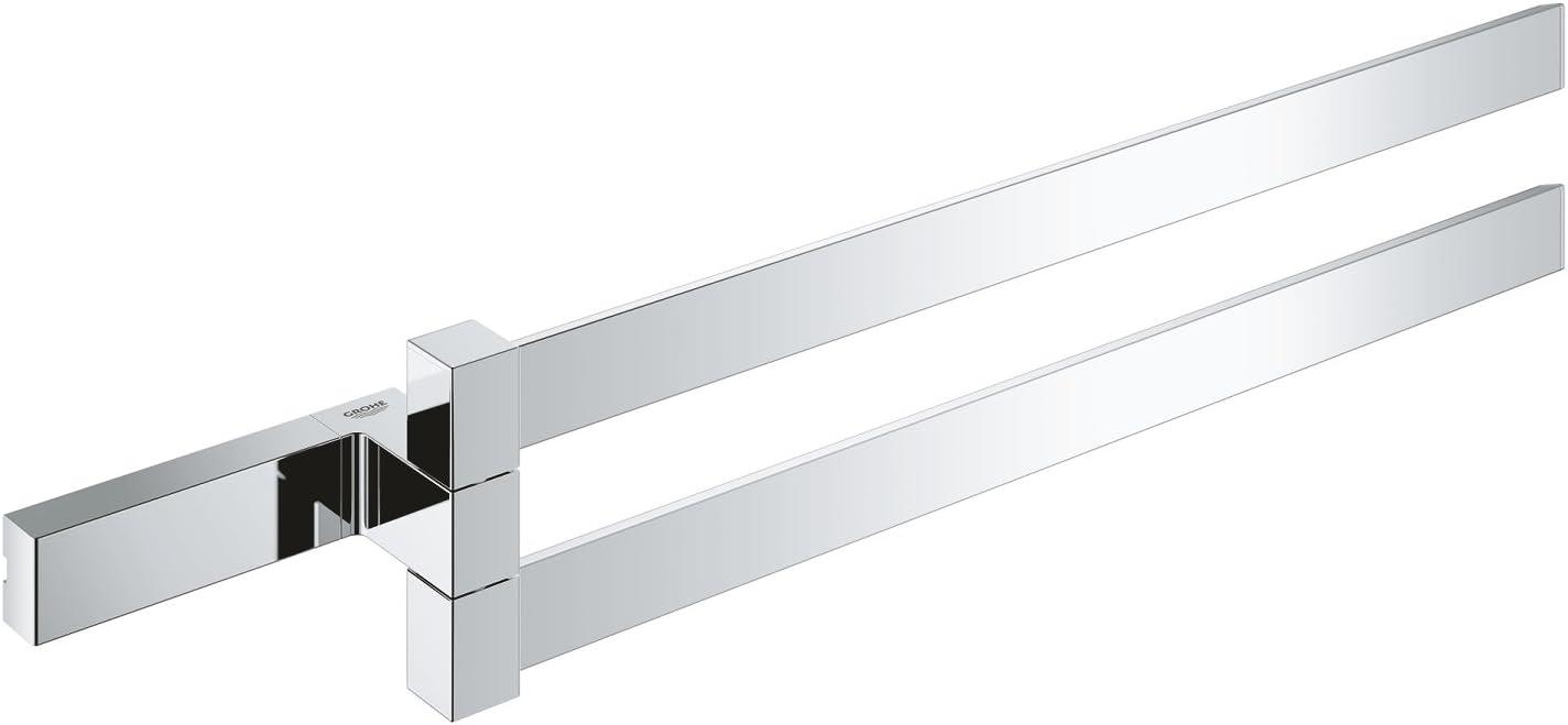 Grohe 40768000 Selection Cube Double Towel Bar, Polished Chrome