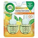Air Wick® 2 Repuestos de Aromatizante de Ambiente Continuo para Aparato Difusor eléctrico, Aroma Citrus Punch, 20 ml c/u