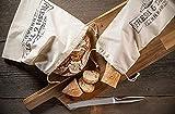 stawoxx lot de 2 sacs à pain et à baguette 100 % coton – sacs réutilisables pour longue