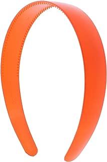 Orange 1 Inch Plastic Hard Headband with Teeth Head band Women Girls (Motique Accessories)