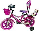 Global Bikes Boy's and Girl's Tube-Less Princess Old Fully Adjustable with Back Seat and Support 14T BMX Bike Bicycle for 2 to 5...