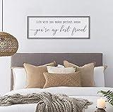 Arvier Bedroom Wall Decor Tim McGraw My Best Friend Song Lyrics Sign Bedroom Wall Art Master Bedroom Sign Large Framed Sign Framed Wall Art