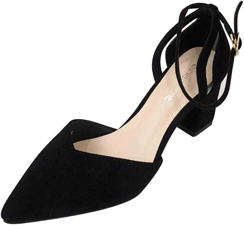 GWStiefel Sandalen Für Damen,Schwarz Mode Temperament SandalenHigh Heels Wies Geschlossene Zehe Gürtelschnalle Mode Lssig Komfort WildeDamen Sommer Outdoor Sandalen