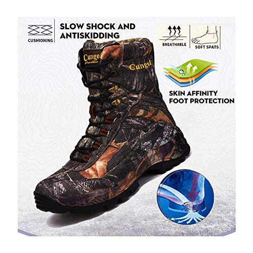 Climbing Sneakers Hunting Boots+Insoles, New Hot Style Men Hiking Shoes Winter Outdoor Hiking Hiking Bootsmountain Sports Boots,Black-45