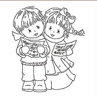 10x10の女の子と男の子のDIYスクラップブッキングフォトアルバム用の透明なクリアシリコンスタンプシール装飾的なクリアスタンプ