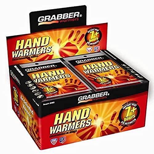 Aquecedores de mãos Grabber 7+ horas – caixa com 40 pares